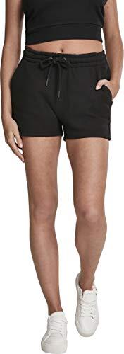 Urban Classics Damen Ladies Heavy Pique Hot Pants Shorts, Schwarz (Black 00007), W(Herstellergröße: L) -