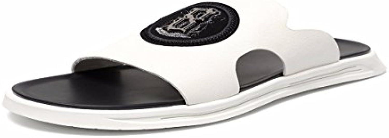 KMJBS-Men 'S Cool Zapatillas Afuera En La Dermis Fuera Verano Antideslizante Blanco Cuarenta Y Uno