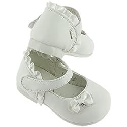 Boutique-Magique Chaussures bébé Blanches pour baptême, Blanc, 20 EU