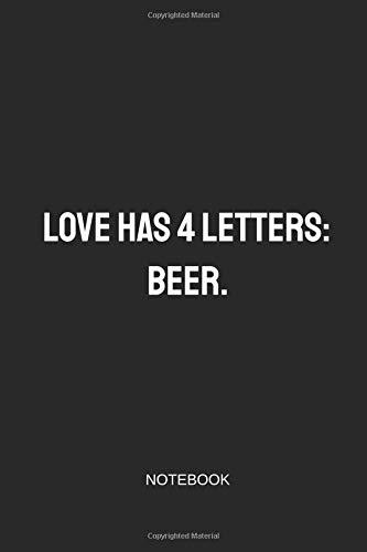 Beer Notebook: Blank Lined Journal 6x9 - Beer Home Brewing Brewer Brewery Beer Gift Log Book ()