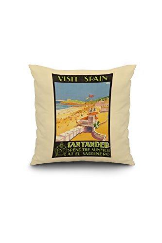 visit-spain-santander-vintage-poster-artist-baldrich-javier-c-1930-16x16-spun-polyester-pillow-case-