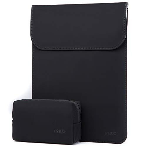 HYZUO 15-15,4 Zoll Laptop Hülle Tasche Wasserdichte Laptophülle Laptoptasche Notebooktasche mit Kleine Tragetasche, Schwarz