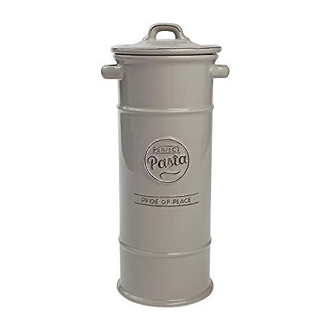 TG Pride of Place Pasta Spaghetti Storage Jar Ceramic Grey