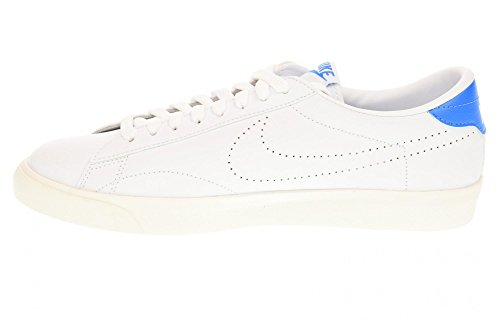 NIKE Tennis Classic AC Turnschuhe Sneaker Unisex Schuhe Weiß Turnschuhe 377812 116 Multicolore - Blanco / Azul (White / White-Lt Photo Blue)
