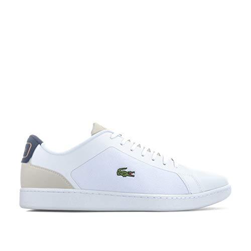 Lacoste 318 Endliner - Zapatillas para Hombre, Color Blanco y Azul Marino, Color Blanco, Talla 40 EU