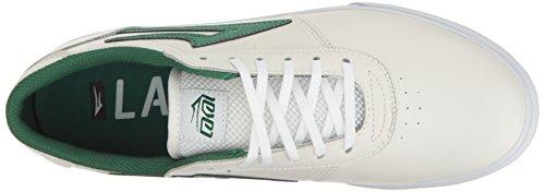 Skate Zapatos Lakai De Verde Manchester Blanco Hombre fFfgWZR
