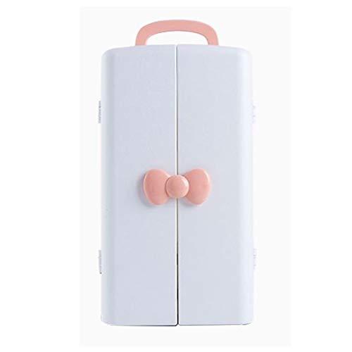 Maquillage Organisateur Cas, Grande Capacité Portable Maquillage Stockage De Stockage Différents types de cosmétiques pour commode,Pink