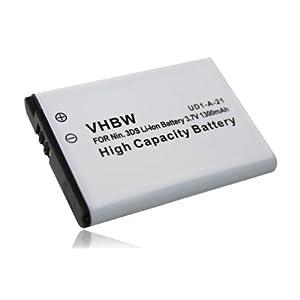 vhbw VARIATION AKKU LI-ION 1300mAh passend für NINTENDO 3DS, N3DS, CTR-001, MIN-CTR-001 ersetzt CTR-003, C/CTR-A-AB