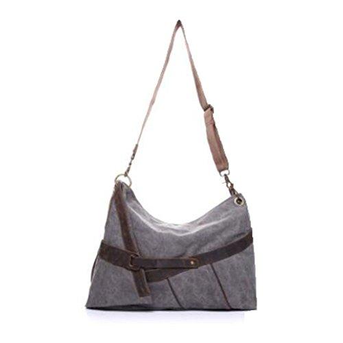 Vogstyle Damentasche Canvas Damen Einkaufstüten Umhängetasche Schultertasche Messenger Tasche Art 1 Grau Art 2 Grau
