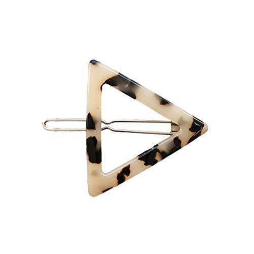 Watermk Frauen koreanischen minimalistischen Stil Haarspangen Vintage Leopard Bernstein Schildkröte Farbe Hairgrips geometrischen Kreis Bowknot Form gerade Haarspangen 10 Stile