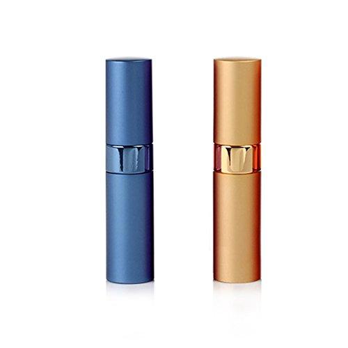 Flacon Vaporisateur à Parfum 15ml Vide Réutilisable Métallique Mini Bouteille de Parfum pour Voyage Couleurs Aléatoire (2pcs)