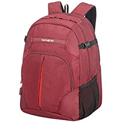 Samsonite Rewind, Mochila tipo casual, L EXP (45cm-29L), Rojo (Granita Red)