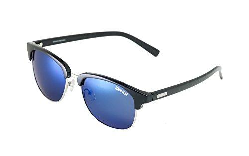 Sinner Erwachsene Sonnenbrille Cascais Clubmaster Polycarbonat, Schwarz