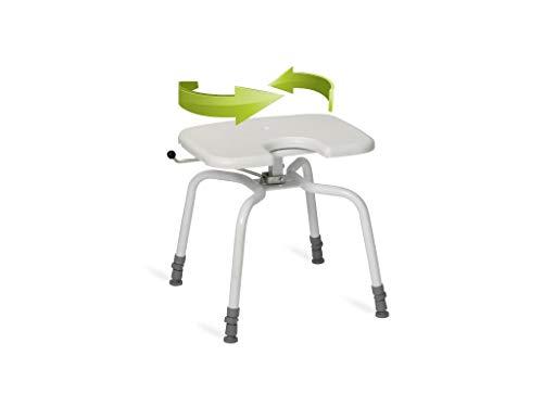 Nordic Duschhocker PRACTICE Hygiene mit drehbarem Sitz bis 130 kg Kunststoff
