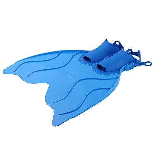 ZYG.GG Ligero Bucear Aletas de Natacion Aletas para Adultos Solo pie Grande Ajustable Cómodo Bucear Actividades acuáticas,Blue,XXL