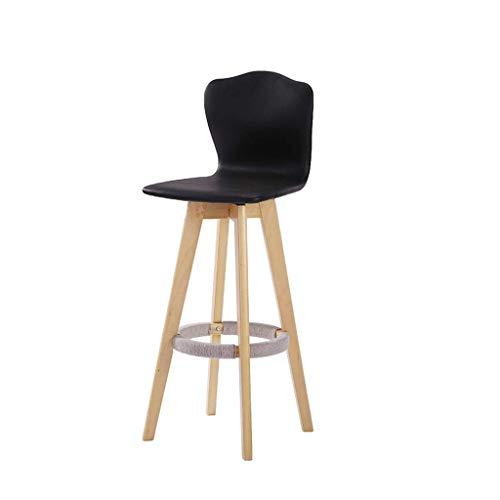 SED Stuhl - Barstuhl Hohe Rückenlehne Stuhl Barhocker Hochstuhl Massivholz Kreative Rotation Einfache Mode Salverform Zurück Bar Balkon Außen Esszimmer Adult Home Hocker,C