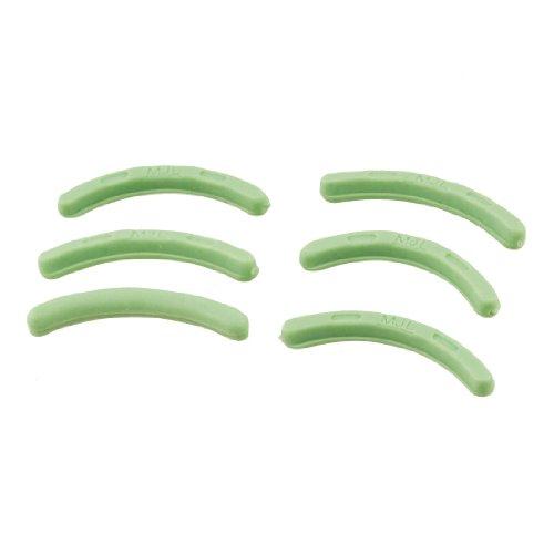 Sourcingmap caoutchouc Cosmétique de remplacement Recourbe-cils Pad, Green – Lot de 6