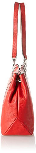Calvin Klein Mia Chain borsa a spalla pelle 39 cm Rosso (FIERY RED/BEACH 902)