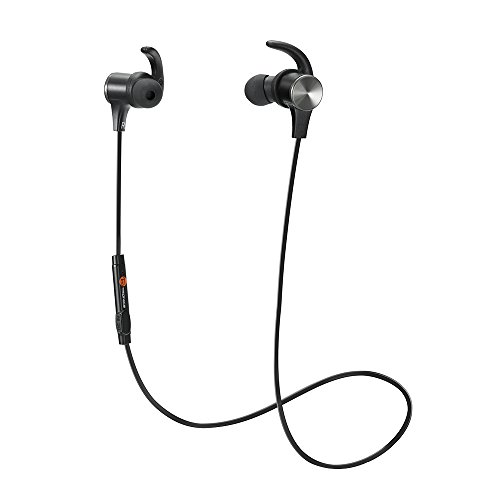 Bluetooth Earphones, TaoTronics Bluetooth 4.1 Headphones Stereo Magnetic Earbuds, Secure Fit for Sport, Gym with Built-in Mic Test