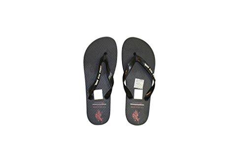 us-polo-association-mens-thong-sandals-black-size-11