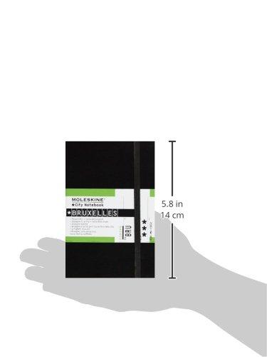 Moleskine City Notebook BRUXELLES Couverture rigide noire 9 x 14 cm