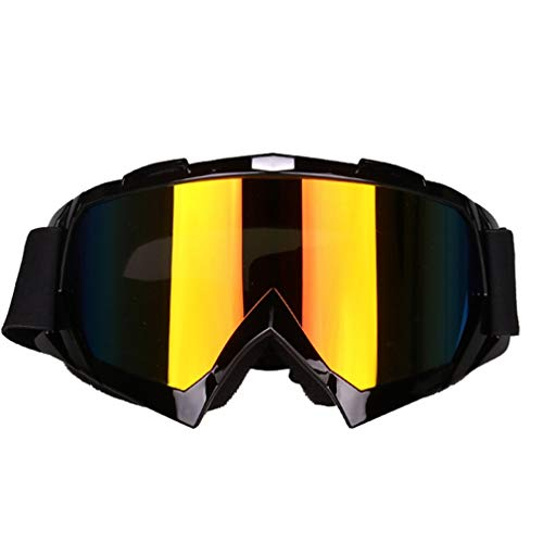 GreatWall Motorradbrille Reiten Motorrad Windschutzscheibe Skibrille UV-Schutz Schwarz