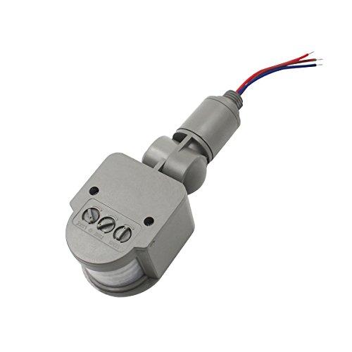 YTCWR Infrarot-Sensor, Infrarot, Human Sensor, PIR-Sensor, 12 V, Grau