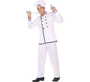 Atosa-50277 Atosa-50277-Disfraz Cocinero-Adulto XL-Hombre, Color blanco (50277