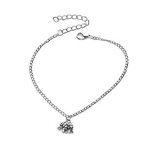 Dragonface Sexy Frauen-Sommer-Elefant-Fußkettchen Anhänger Silber-Fuss-Ketten Fashion Fuss-Schmucksachen Nizza Geschenk