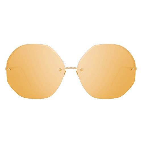 Shengjuanfeng-brillen Polarisierte Brille Mode Flut männer und Frauen persönlichkeit Big Box Sonnenbrille Accessoires (Farbe : Yellow)