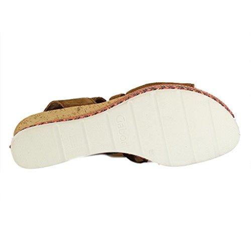 Gabor Damen sandalo TUNISI 62.875.35 ranch ranch (Kork/Band)
