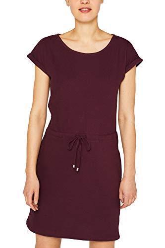 ESPRIT Damen 049EE1E004 Kleid, Rot (Bordeaux Red 600), X-Small (Herstellergröße: XS)