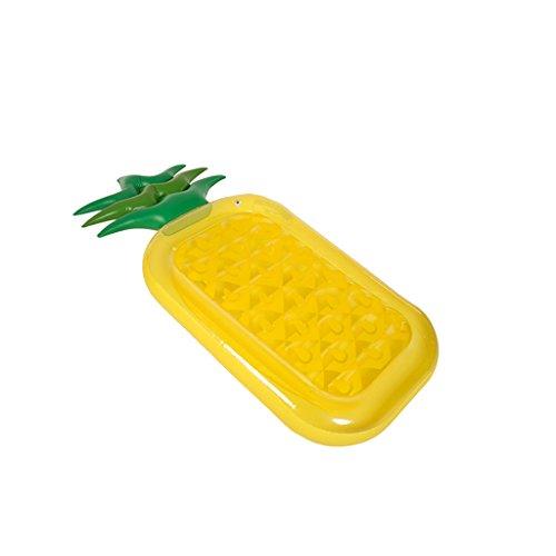 Bañera Hinchable Inflatable Swim Ring Water Piña Sandía Rainbow Pizza Cactus Berenjena Forma Flotante Fila Piscina Flotador Cojín Verano Esencial Rollsnownow (Tamaño : Pineapple)