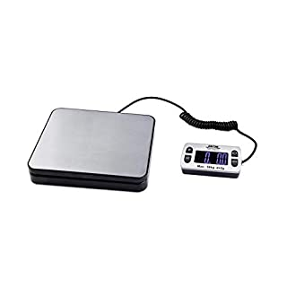 ABCON POSTSHIP Digital 50kg 110lb with 2g 0.1oz Increments Stainless Steel Platform Letter Postal Postage Parcel Shipping Weighing Warehouse Scales Compact Platform and Extendable Display Cable