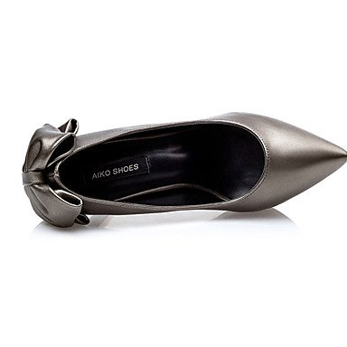 Moda Donna Sandali Sexy donna tacchi tacchi estate pu Casual Stiletto Heel Bowknot nero / rosso / argento / grigio altri Silver