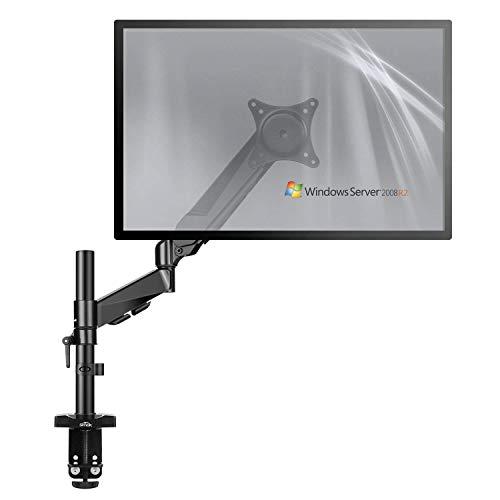 """SIMBR Soporte Monitor con Brazo de Resorte de Gas para PC Y Pantalla LCD LED de 15""""-27"""" Soporte para Mesa y Escritorio con VESA 75x75mm y 100x100mm Carga Máxima de 8kg(17.6lbs y Altura Ajustable"""