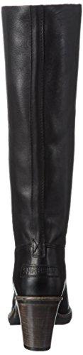 Shabbies Amsterdam Damen 39cm High Boot Caramato Sole Black Lee Caramato Kalt gefüttert Langschaft Stiefel & Stiefeletten Schwarz (Black)