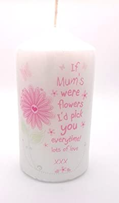 IF MUMS WERE FLOWERS CANDLE for Her Novelty keepsake Gifts Presents for Birthday Xmas Christmas Mothers Day my Mum from children son daughter kids by Chris Bag of Goodies
