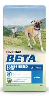 Beta Dry Adult Dog Food Large Breed Turkey, 2.5 kg – Pack of 4