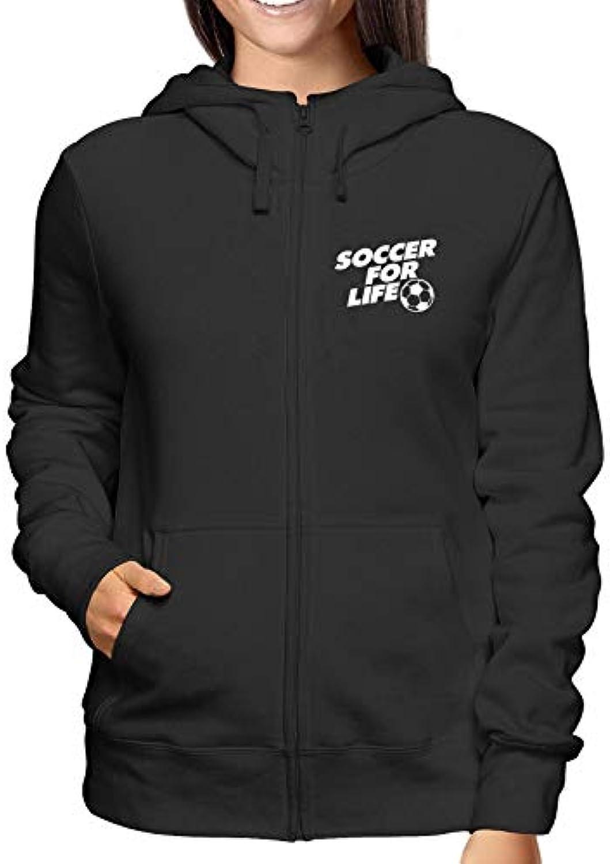 T-Shirtshock Felpa Cappuccio e for Zip Donna Nero WC1480 Soccer for e Life  2bf3e6 106b49425065