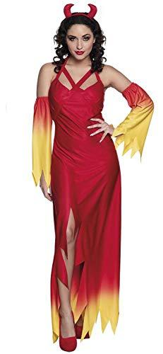 Boland 79121 Erwachsenenkostüm Feuerteufel Gr. M, rot/gelb, M (Sie Teufel Kostüm Großbritannien)