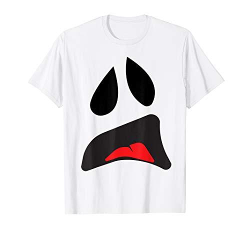 Chupacabra Kostüm - Big Ghost Face - Einfache Paare Halloween-Kostüm Idee T-Shirt