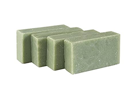 Eukalyptus- Grüne Minze Seifenstück (4 Bar Set)- erfrischende Minze und Eukalyptus - Handgefertigtes und biologisches Bio-Seifenstückfück empfindliche Haut. Feuchtigkeitsspendende Körperseife für Haut und Gesicht. Mit Shea Butter, Kokosnussöl, Glycerin