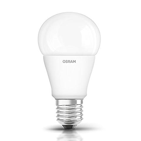 OSRAM LED STAR Ampoule LED, Forme Classique, Culot E27, 8W Equivalent 60W, 220-240V, dépolie, Blanc Froid 4000K, Lot de 1 pièce