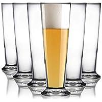 6 x Trinkglas Longdrink Wasserglas Pilsglas Bier Glas Alltagsglas 330ml Saftglas