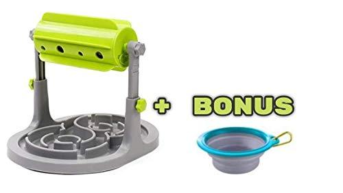 Interaktives Spielzeug für Hunde und Katzen. Der gesunde Snackspender mit integriertem Anti-Schling-Napf