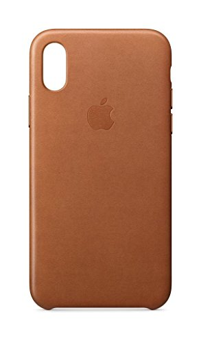 Apple Leder Case, für iPhone X, sattelbraun - 3142Ta4TLUL - Apple Leder Case, für iPhone X, sattelbraun