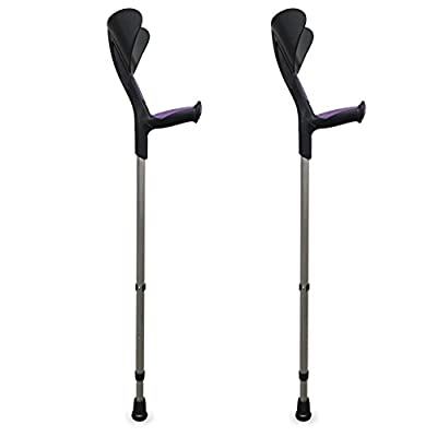 Pack of 2Advance Crutches with Anatomical Rubber Grips - Purple