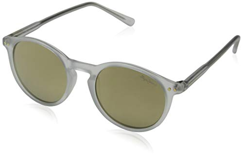 Pepe Jeans Herren Mateo Sonnenbrille, Transparent (Clear/Grey), 48.0