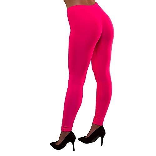 Unbekannt 80's Neon Leggings Pink Medium and Large for Fancy Dress Costume